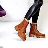 Женские ботинки ДЕМИ коричневые/ рыжие эко кожа, фото 3