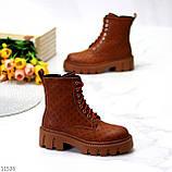 Женские ботинки ДЕМИ коричневые/ рыжие эко кожа, фото 6