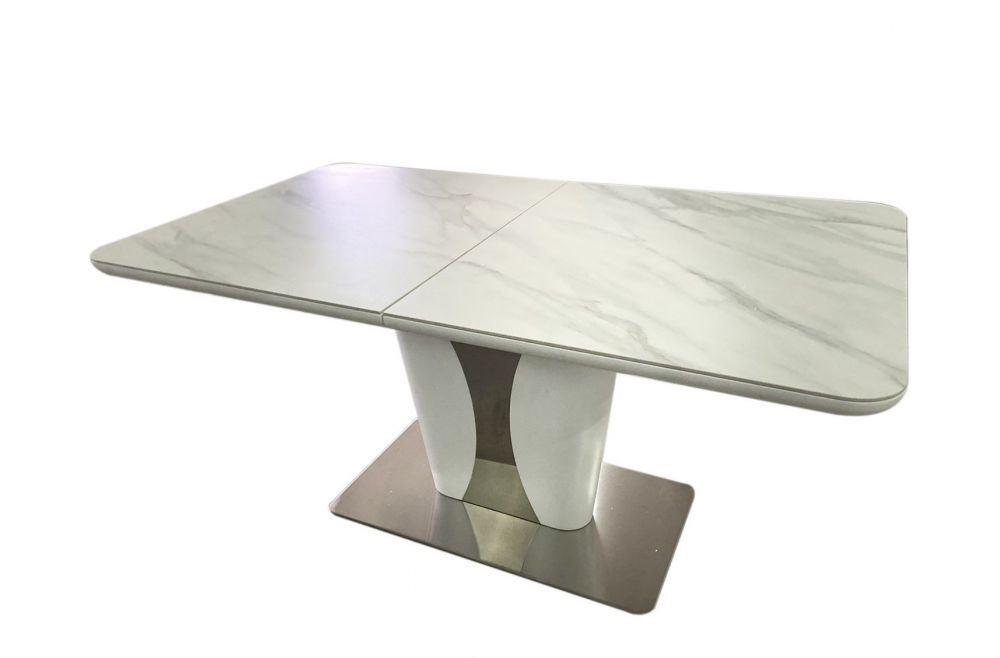 Розсувний стіл Рокфорд 160/210 White Matt Ceramic ZH01 матовий білий (безкоштовна доставка)