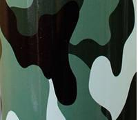 Камуфляжная пленка серо-зеленая глянцевая 1,52