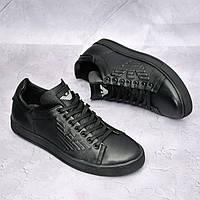 Чоловічі шкіряні туфлі Armani, фото 1