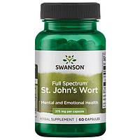 Зверобой, St. John's Wort, Swanson, 375 мг, 120 капсул