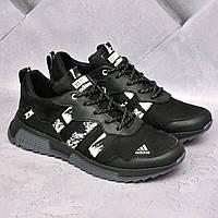 Чоловічі шкіряні кросівки Adidas ZX, фото 1