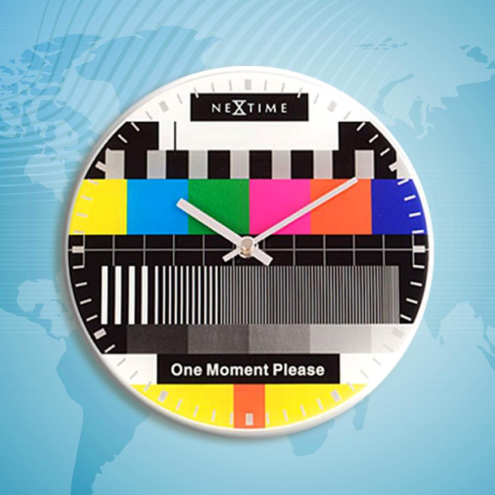 """Годинники настінні """"Testpage One moment"""" Ø20 см"""