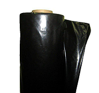 Пленка черная строительная непрозрачная для укладки фундамента, 1,5 м рукав, 3 м ширина, 60 мкм толщина