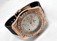 Женкские часы HUBLOT - Geneve, каучуковый ремешок, cristal, кристалы