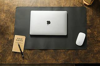 Кожаный набор аксессуаров для офиса, кожа Grand, цвет коричневый, оттенок Шоколад, фото 2