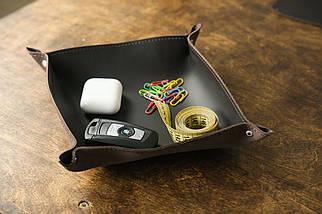Кожаный набор аксессуаров для офиса, кожа Grand, цвет коричневый, оттенок Шоколад, фото 3