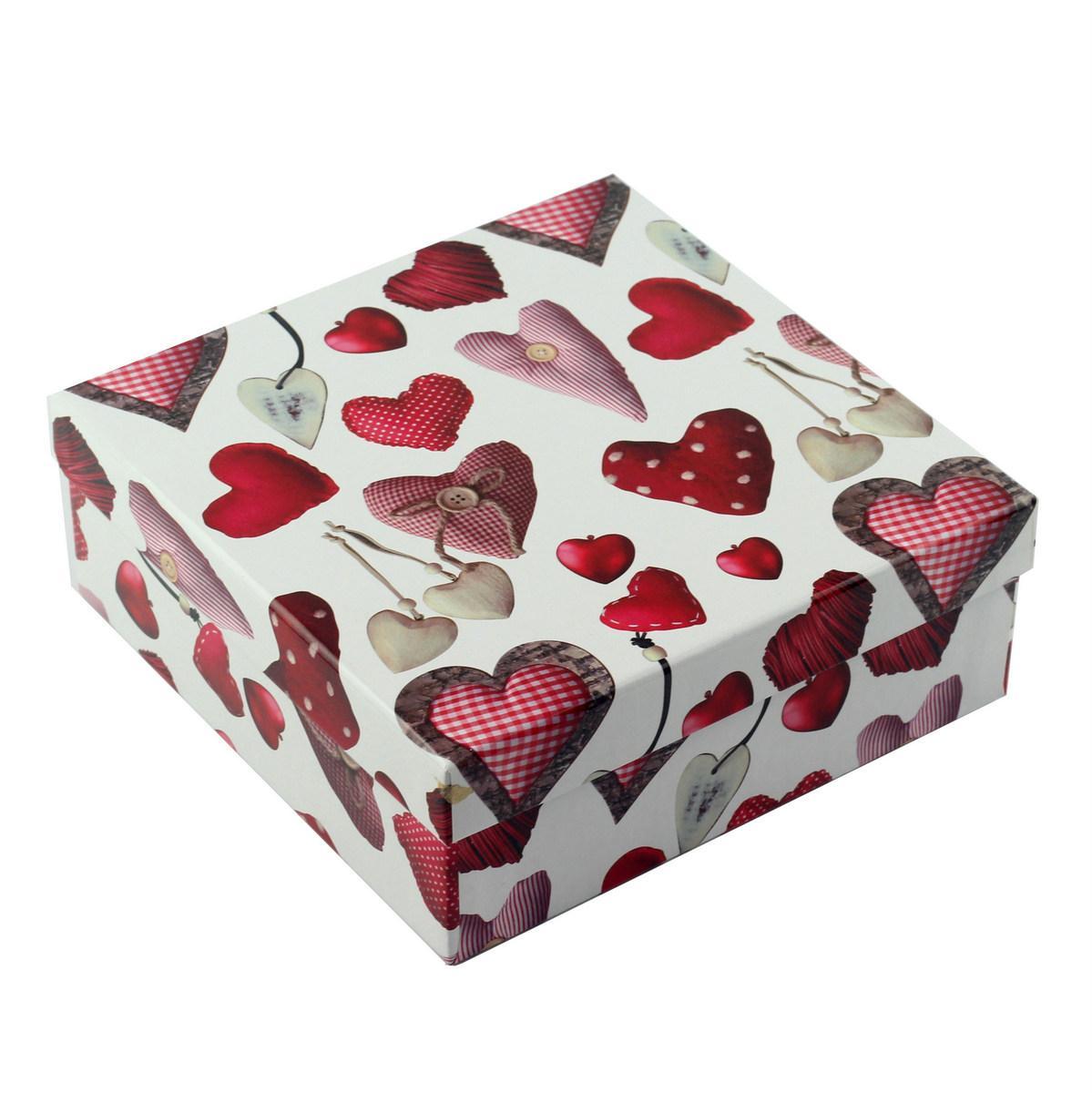 Коробка подарункова ООТВ Heart 22 х 22 х 8 см