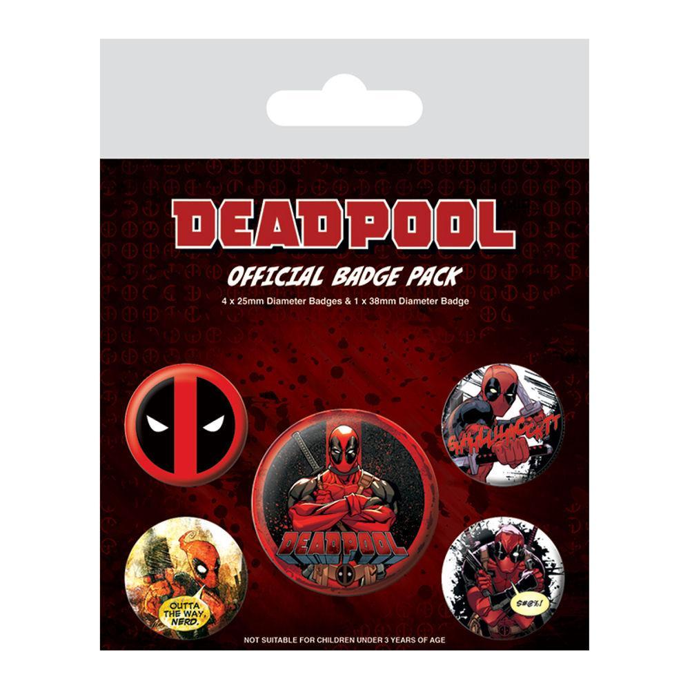Набор значков Deadpool Badge Pack