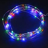 """Гирлянда """"Роса"""" на батарейках+USB, 20 м, 2 режима свечения,цветная, фото 2"""