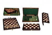 Шахматы 2033 магнитные большие, коричневые 27х13.5х4см (король-55мм)
