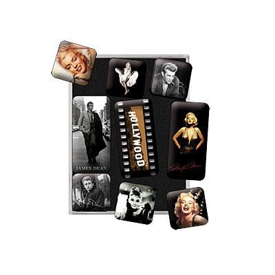 """Набор из 9 магнитов """"Голливуд представляет"""" Nostalgic Art (83003)"""