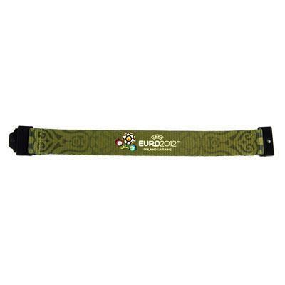 """Браслет текстильний """"Euro 2012"""", зелений, маленький"""