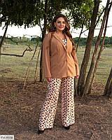 Класичний діловий жіночий піджак на гудзиках з довгим рукавом великих розмірів батал 48-58 арт 1324