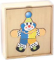 "Деревянная Рамка-вкладыш ""Клоун"" в коробке D116 Sea Land"