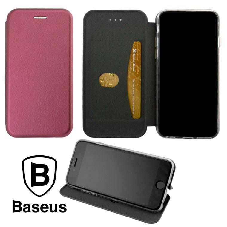 Чохол-книжка Baseus Premium Edge Xiaomi Redmi 9T, Poco M3 бордовий