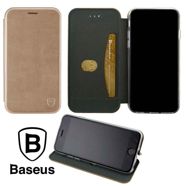 Чохол-книжка Baseus Premium Edge Samsung S21 Plus G996 рожево-золотистий