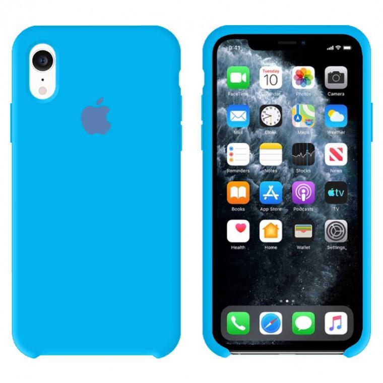 Чехол Silicone Case Original iPhone XR №63 (Waves) (N66)