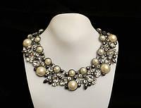 Ожерелье полусферы и кристаллы