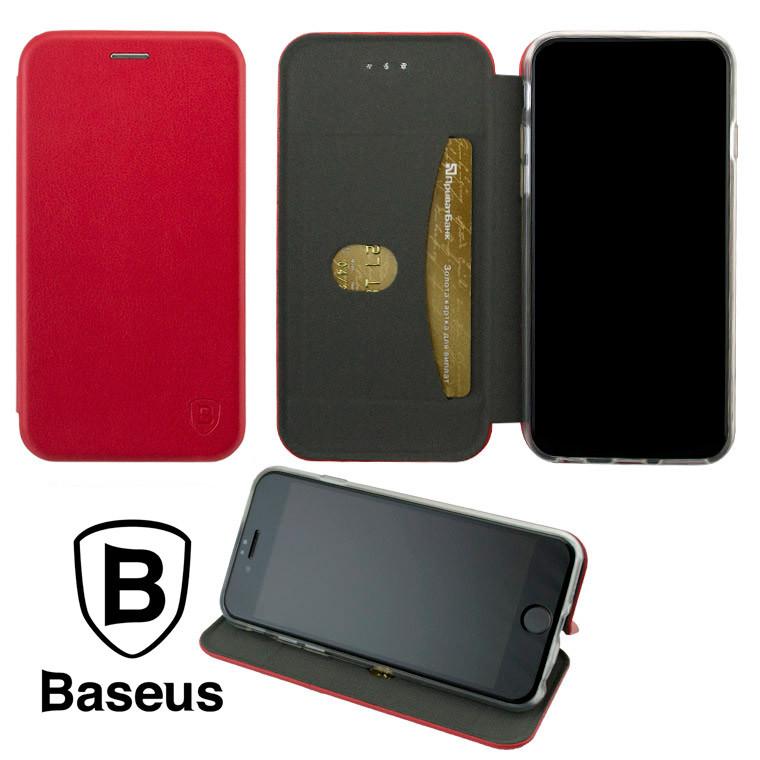Чохол-книжка Baseus Premium Edge Samsung S21 Ultra G998 червоний