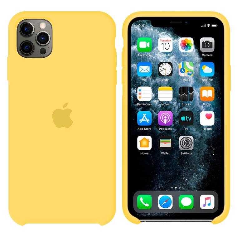 Чехол Silicone Case Original iPhone 12 Pro Max № 4 (Yellow) (N04)