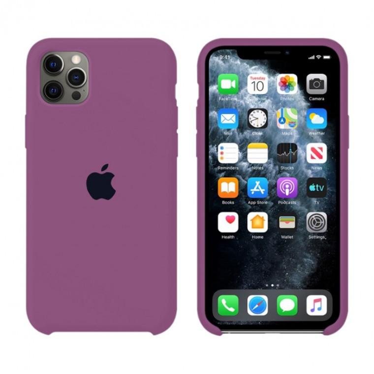 Чехол Silicone Case Original iPhone 12 Pro Max №45 (Purple) (N43)