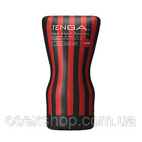Мастурбатор Tenga Squeeze Tube Cup (мягкая подушечка) STRONG сдавливаемый