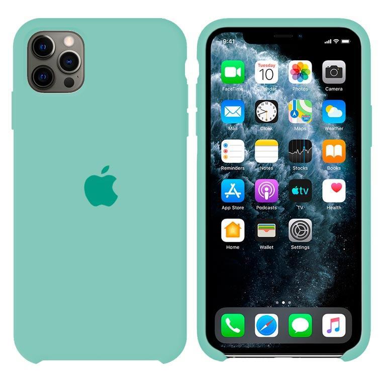 Чехол Silicone Case Original iPhone 12 Pro Max №17 (light blue) (N17)