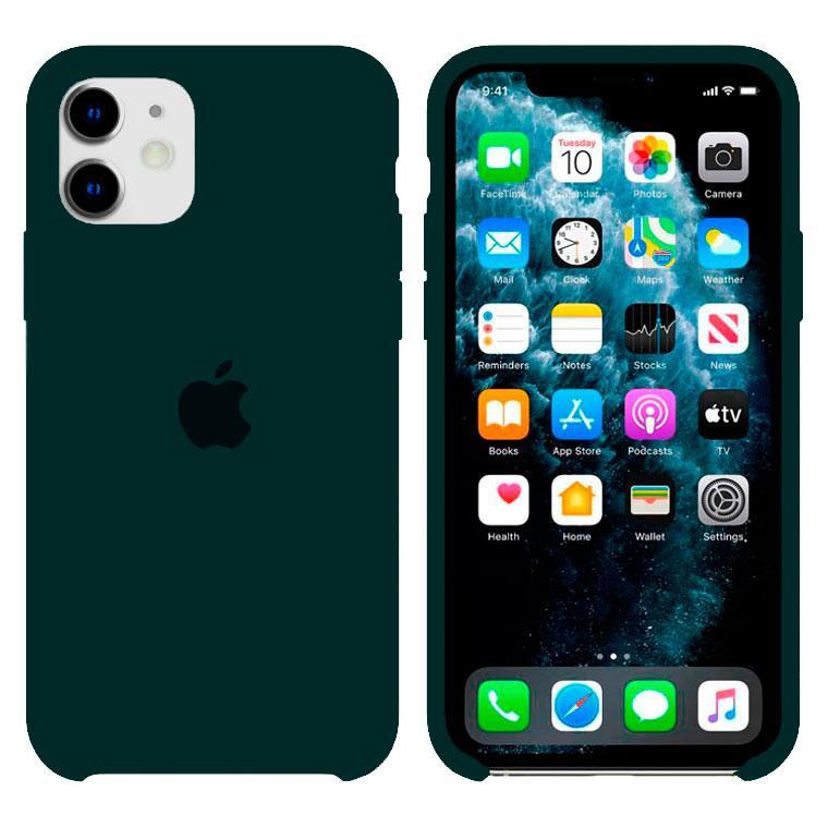 Чехол Silicone Case Original iPhone 12 Mini №49 (Dark green) (N56)