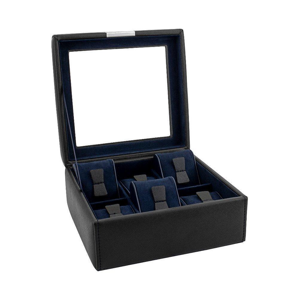 Шкатулка для зберігання годин Friedrich Lederwaren Bond 6, чорна