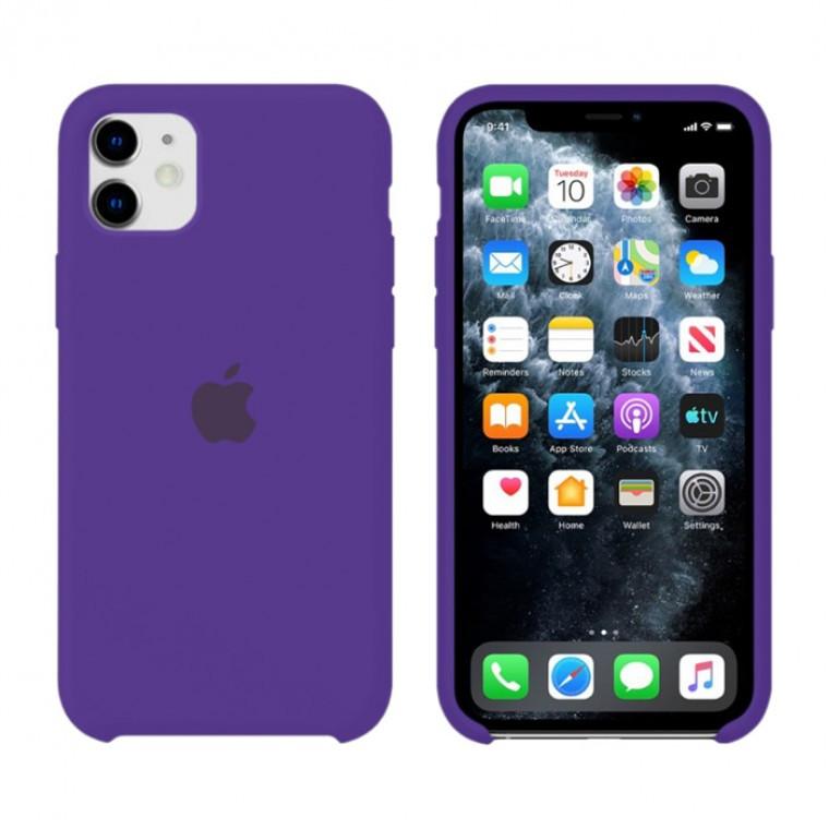 Чохол Silicone Case iPhone Original 12 Mini №30 (Dark purple) (N34)