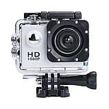 🔝 Екшн камера на шолом (GIPS), A7 Sports Cam, HD 1080p, налобні відеокамера, для спорту, колір - сріблястий,,, фото 2