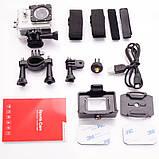 🔝 Екшн камера на шолом (GIPS), A7 Sports Cam, HD 1080p, налобні відеокамера, для спорту, колір - сріблястий,,, фото 7