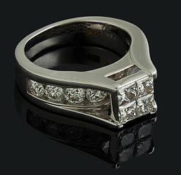 Золоте кільце з діамантами С48Л1№7