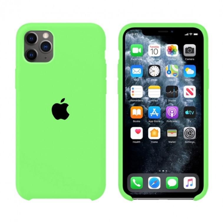 Чохол Silicone Case iPhone Original 11 Pro Max №66 (Brilliant green) (N40)