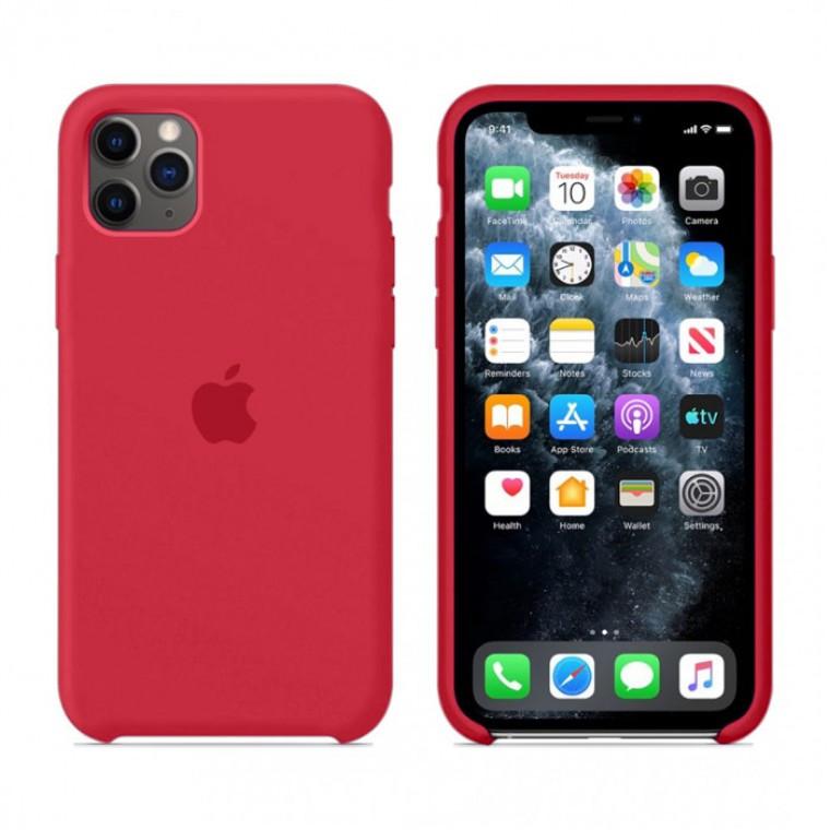 Чехол Silicone Case Original iPhone 11 Pro Max №25 (Camellia Red) (N25)