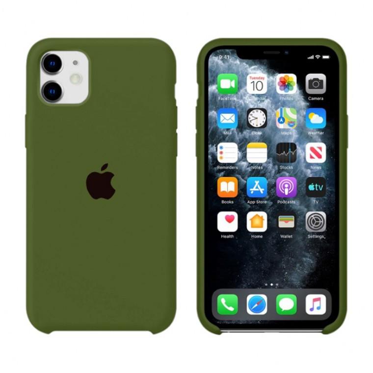 Чохол Silicone Case iPhone Original 12 Mini №48 (Pine forest green) (N45)