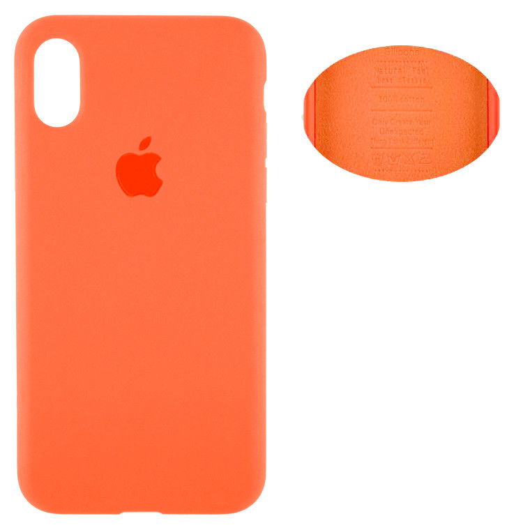 Чехол Silicone Cover Full Apple iPhone X , iPhone XS 5.8 оранжевый