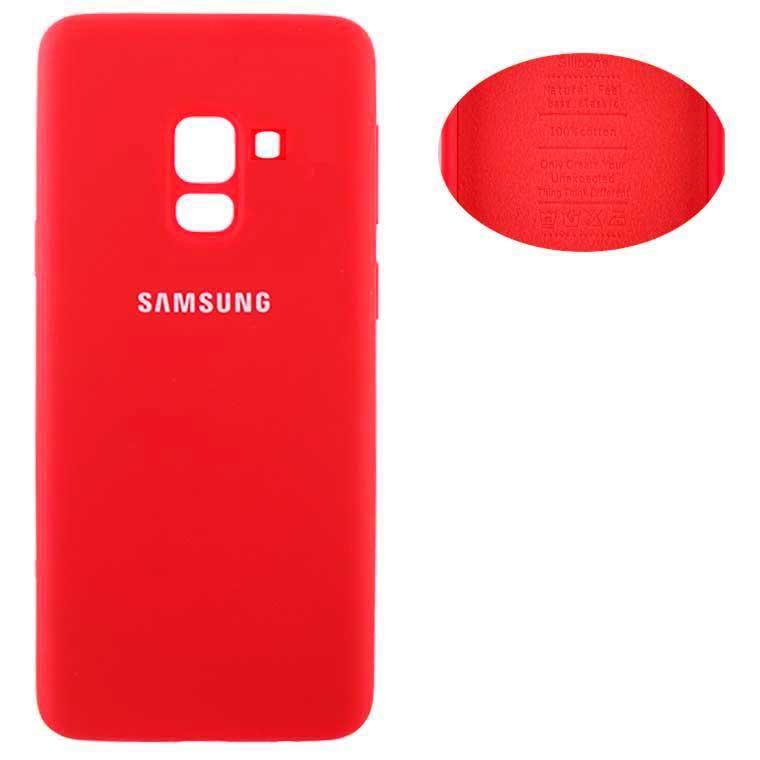 Чехол Silicone Cover Full Samsung A8 Plus 2018 A730 красный