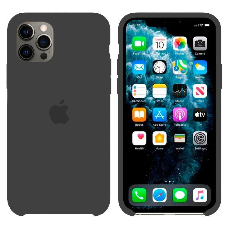 Чохол Silicone Case iPhone Original 12 Pro Max №15 (Charcoal black) (N15)