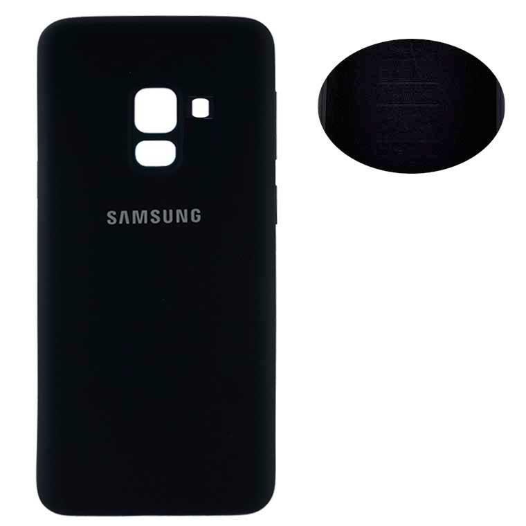 Чехол Silicone Cover Full Samsung A8 Plus 2018 A730 черный