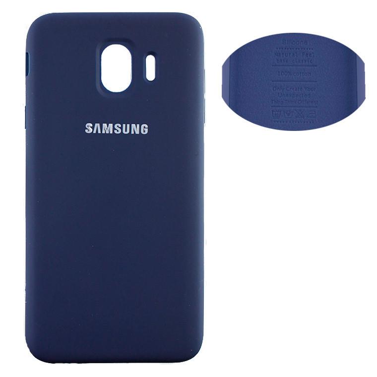 Чохол Silicone Cover Full Samsung J4 2018 J400 синій