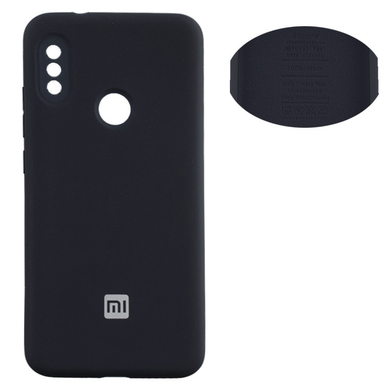 Чохол Silicone Cover Full Xiaomi Redmi 6 Pro, Mi A2 Lite чорний