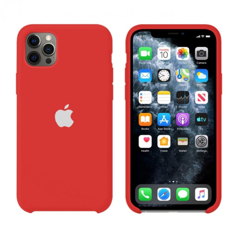Чохол Silicone Case iPhone Original 12 Pro Max №33 (China red) (N31)