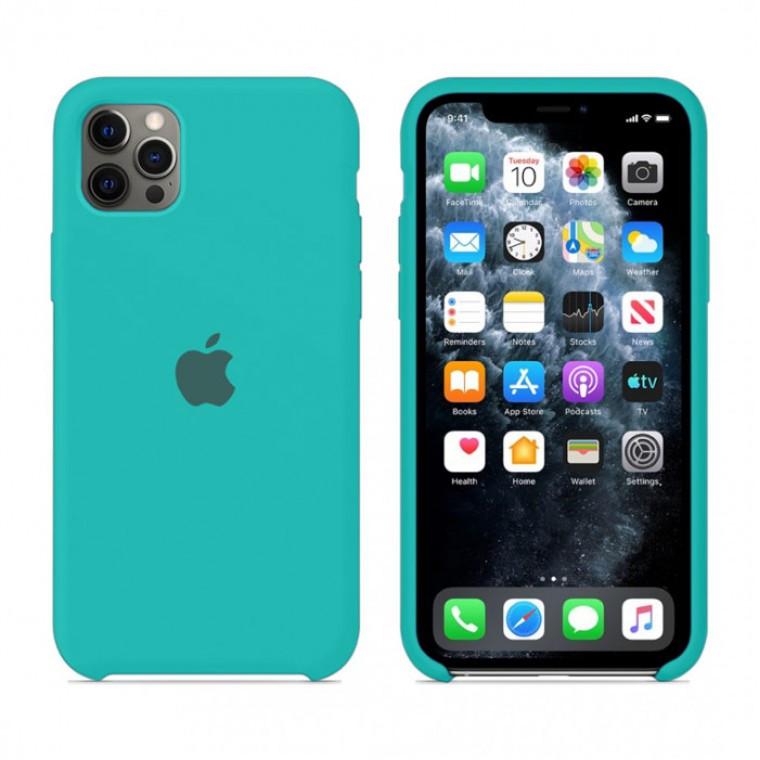 Чохол Silicone Case iPhone Original 12, 12 Pro №21 (Ice blue sea) (N21)