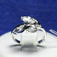 Женское кольцо из серебра с камнями циркония 1966