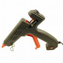 Клеевой пистолет с кнопкой Expert Glue HD-01, под клей 11мм, 180W, черный