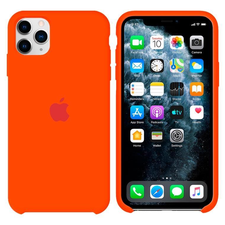 Чехол Silicone Case Original iPhone 12, 12 Pro №13 (Orange) (N13)