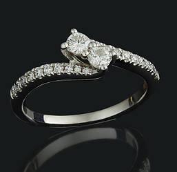 Золоте кільце з діамантами С48Л1№4